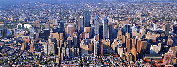 Center City Aerial Photograph Skyline Philadelphia Pennsylvania 19103 Print by Duncan Pearson