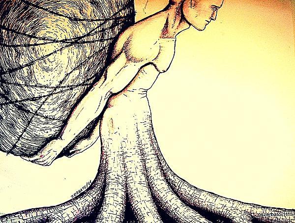 Central Beliefs Of Helplessness Print by Paulo Zerbato