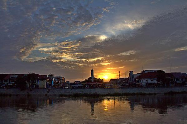 Central Market In Battambang Cambodia Print by Nabil Kannan