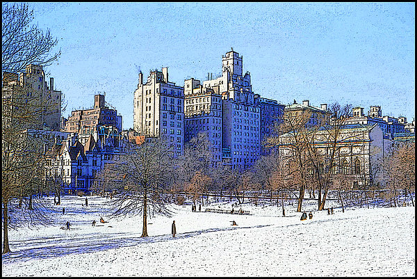 Central Park Print by Chuck Staley