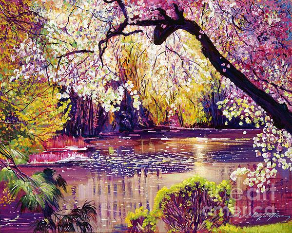 Central Park Spring Pond Print by David Lloyd Glover