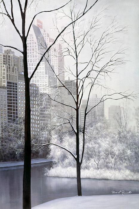 Central Park Vertical Print by Diane Romanello