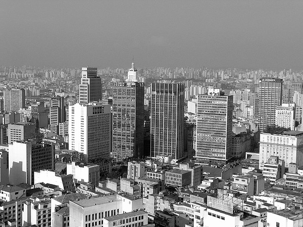 Centro De Sao Paulo Print by Eli K Hayasaka