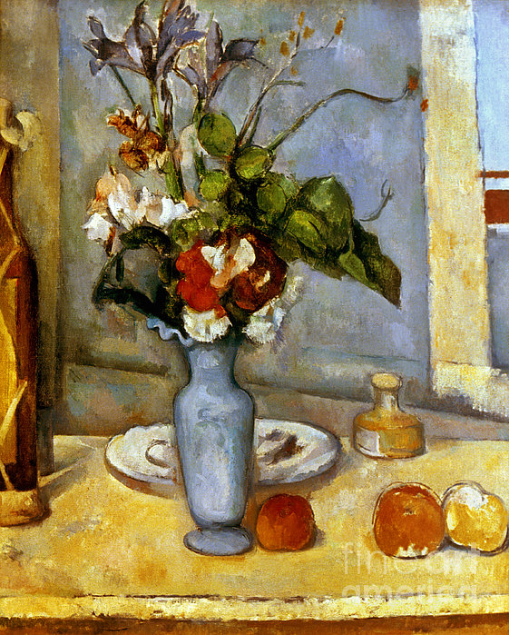 Cezanne: Blue Vase, 1885-87 Print by Granger