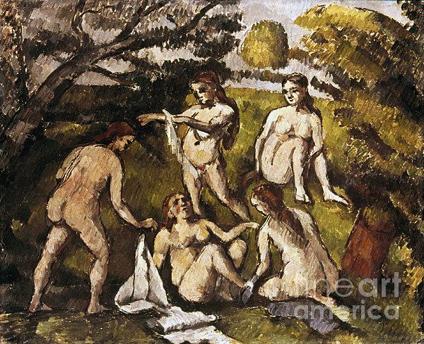 Cezanne: Five Bathers Print by Granger