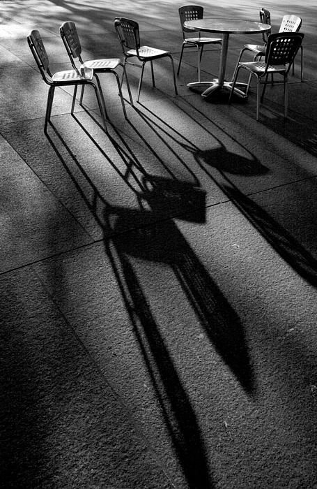 Chairs And Shadows Print by Steven Ainsworth