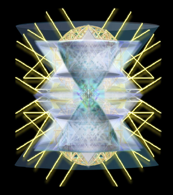 Chalices From Pi Sphere Goldenray IIi Print by Christopher Pringer