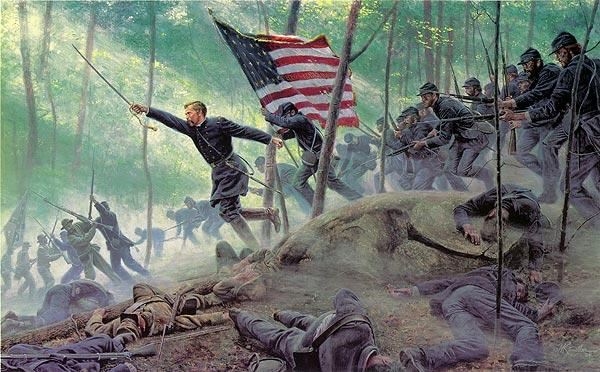 Chamberlains Charge By Mort Kunstler