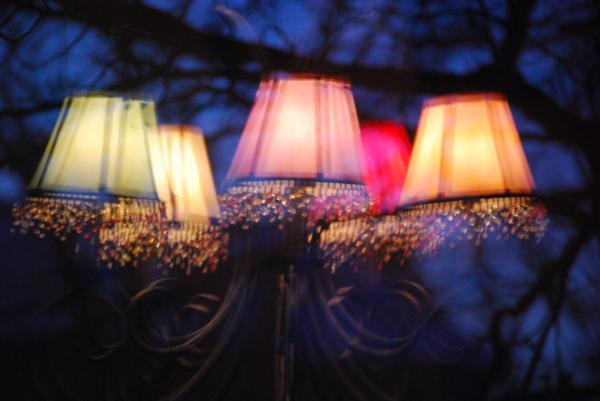 Chandelier In The Trees Print by Peter  McIntosh
