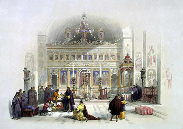 Chapel Of The Convent Of St Saba Print by Munir Alawi