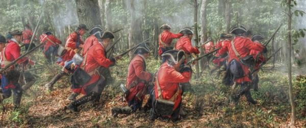 Charge Of The 60th Royal Americans Regiment At Bushy Run Digital Art  - Charge Of The 60th Royal Americans Regiment At Bushy Run Fine Art Print