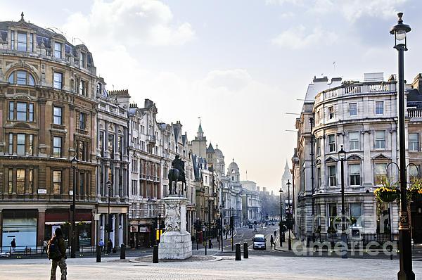 Charing Cross In London Print by Elena Elisseeva