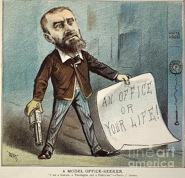 Charles Guiteau Cartoon Print by Granger