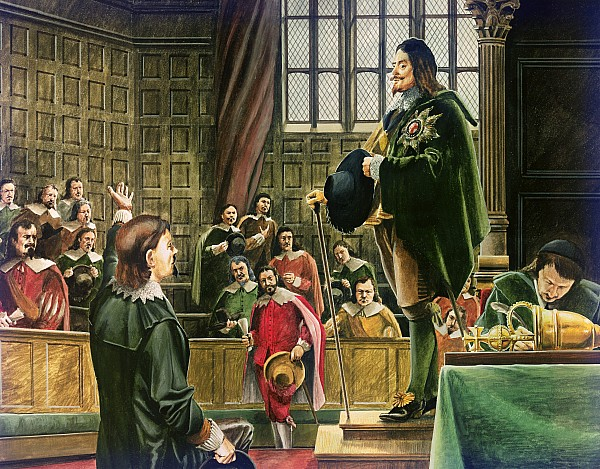Charles I In The House Of Commons Print by English School