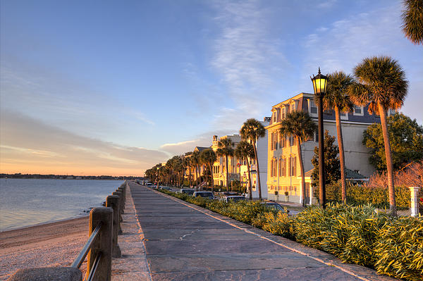 Dustin K Ryan - Charleston East Battery Row Sunrise