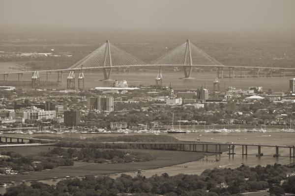 Charleston South Carolina Aerial Print by Dustin K Ryan