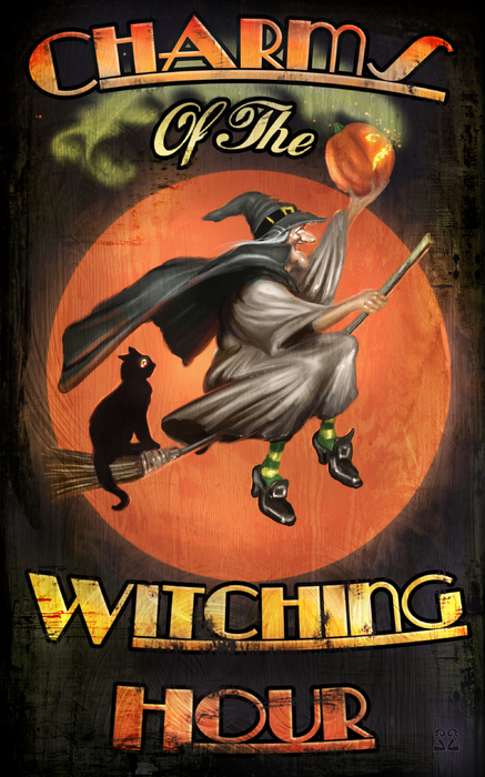 Charms Of The Witching Hour Print by Joel Payne