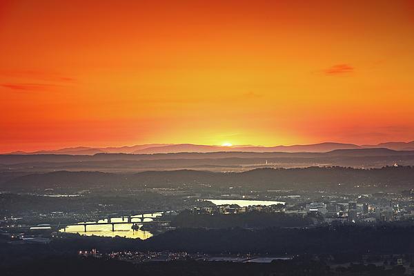 Chattanooga Sunrise Print by Steven Llorca