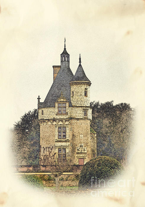Chennonceau Castle Print by Paul Topp