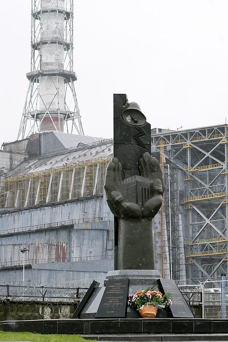 Chernobyl Power Station Monument Print by Ria Novosti