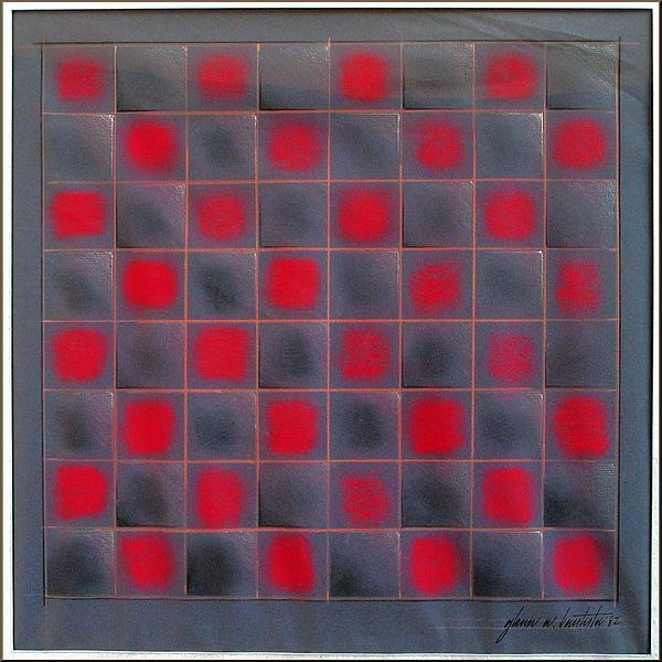 Chessboard 1982 Print by Glenn Bautista
