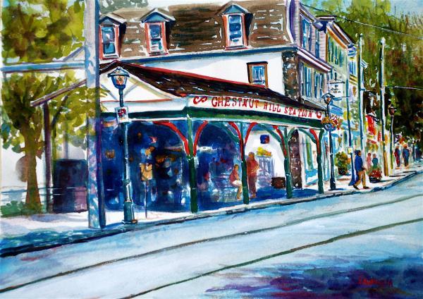 Chestnut Hill Station Print by Joyce A Guariglia