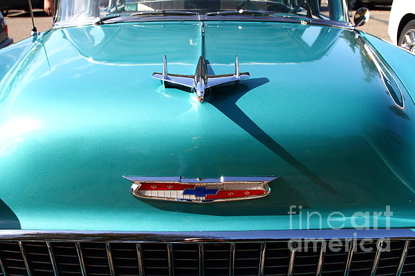 Chevrolet Bel-air . Blue . 7d12850 Print by Wingsdomain Art and Photography