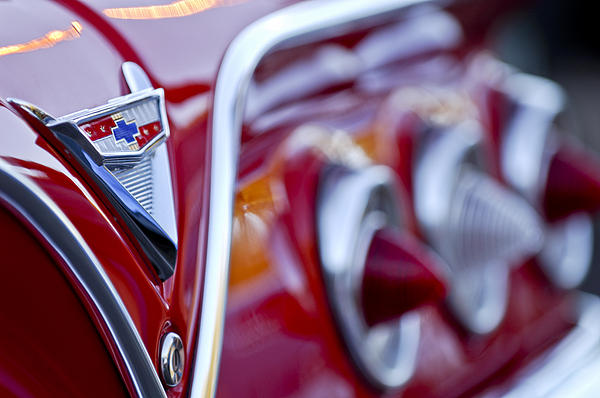 Chevrolet Impala Emblem Print by Jill Reger