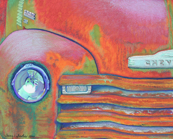 Chevy Rust Print by Tracy L Teeter