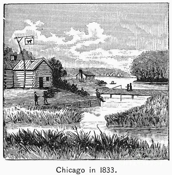 Chicago, 1833 Print by Granger