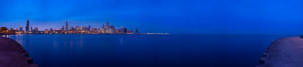 Chicago Lakefront Ultra Wide Hd Print by Steve Gadomski