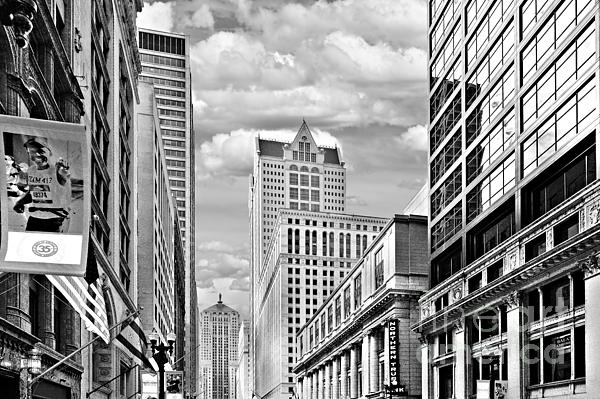 Chicago Lasalle Street Print by Christine Till