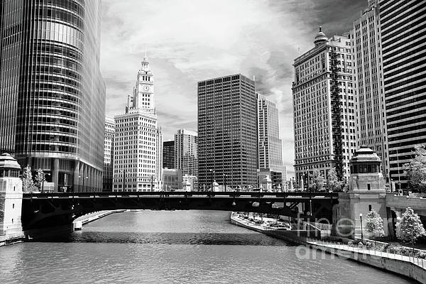 Chicago River Buildings Skyline Print by Paul Velgos