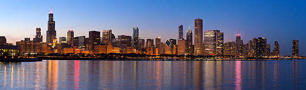 Donald Schwartz - Chicago Skyline Evening