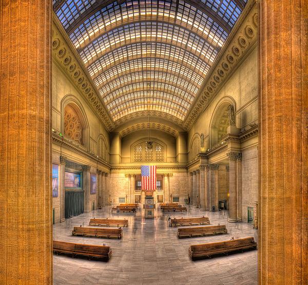 Chicagos Union Station Print by Steve Gadomski