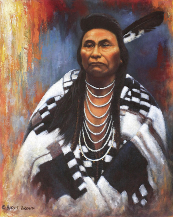 Chief Joseph Print by Harvie Brown