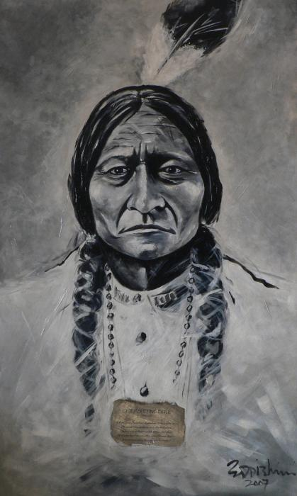 Chief Sitting Bull Painting  - Chief Sitting Bull Fine Art Print