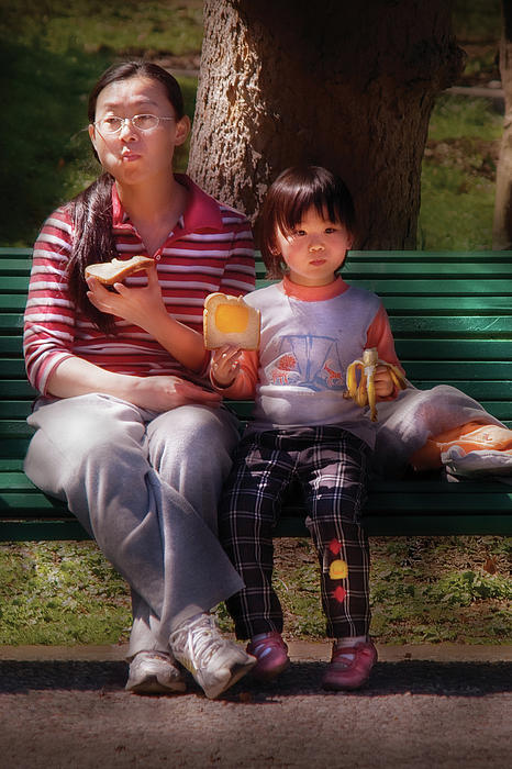 Children - Balanced Meal Print by Mike Savad