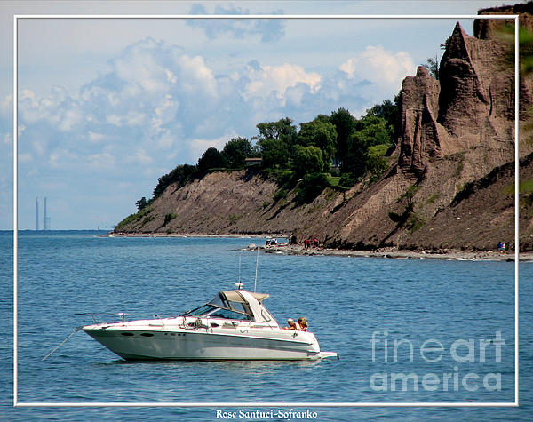 Chimney Bluffs On Lake Ontario Print by Rose Santuci-Sofranko