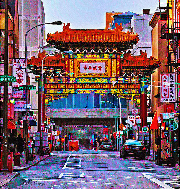 Chinatown Arch Philadelphia Print by Bill Cannon