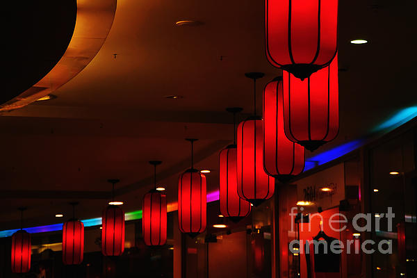Chinatown - Colorful Shopping Mall Print by Kaye Menner