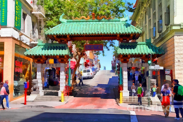 Chinatown Gate In San Francisco . 7d7139 Print by Wingsdomain Art and Photography