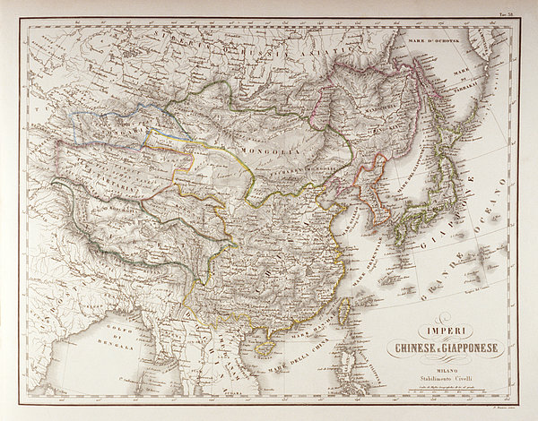 Chinese And Japanese Empires Print by Fototeca Storica Nazionale