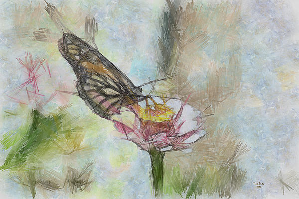 Chinese Butterfly Print by Trish Tritz