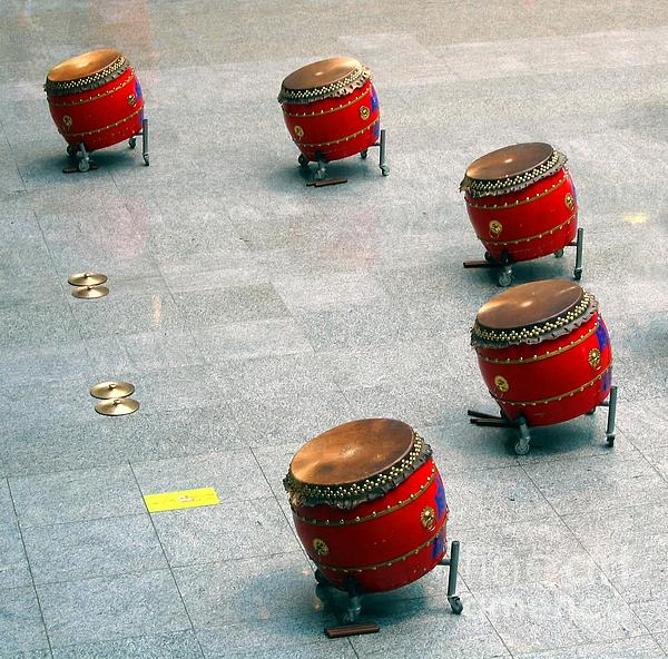 Chinese Drum Set Print by Yali Shi