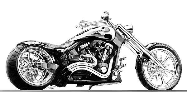 Kleurplaat Motor Harley Pencil Sketches Of Nature Of Sceneries Landscapes Of