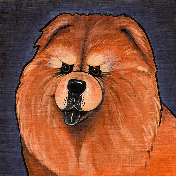 Chow Chow Print by Leanne Wilkes