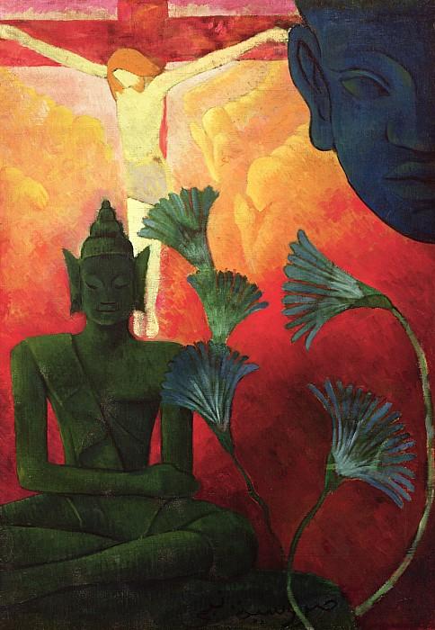 Christ And Buddha Print by Paul Ranson