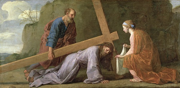 Christ Carrying The Cross Print by Eustache Le Sueur