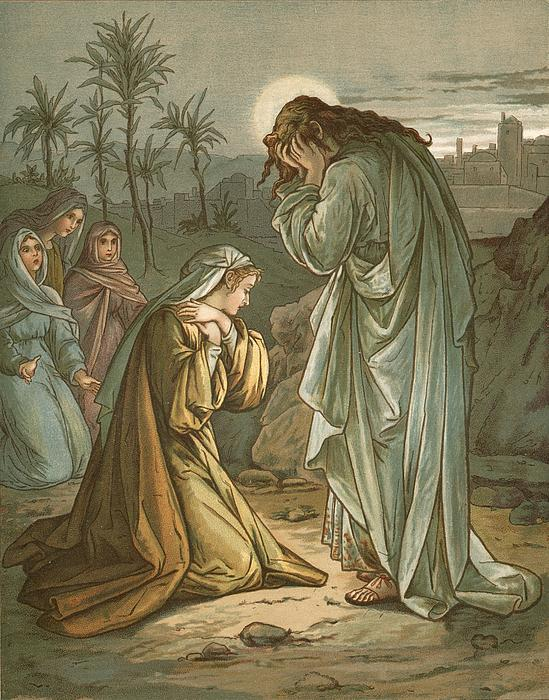 Christ In The Garden Of Gethsemane Print by John Lawson